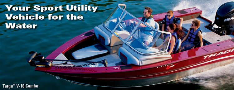 Tracker™ Targa V-18 Combo - Your sport utility vehicle for the water